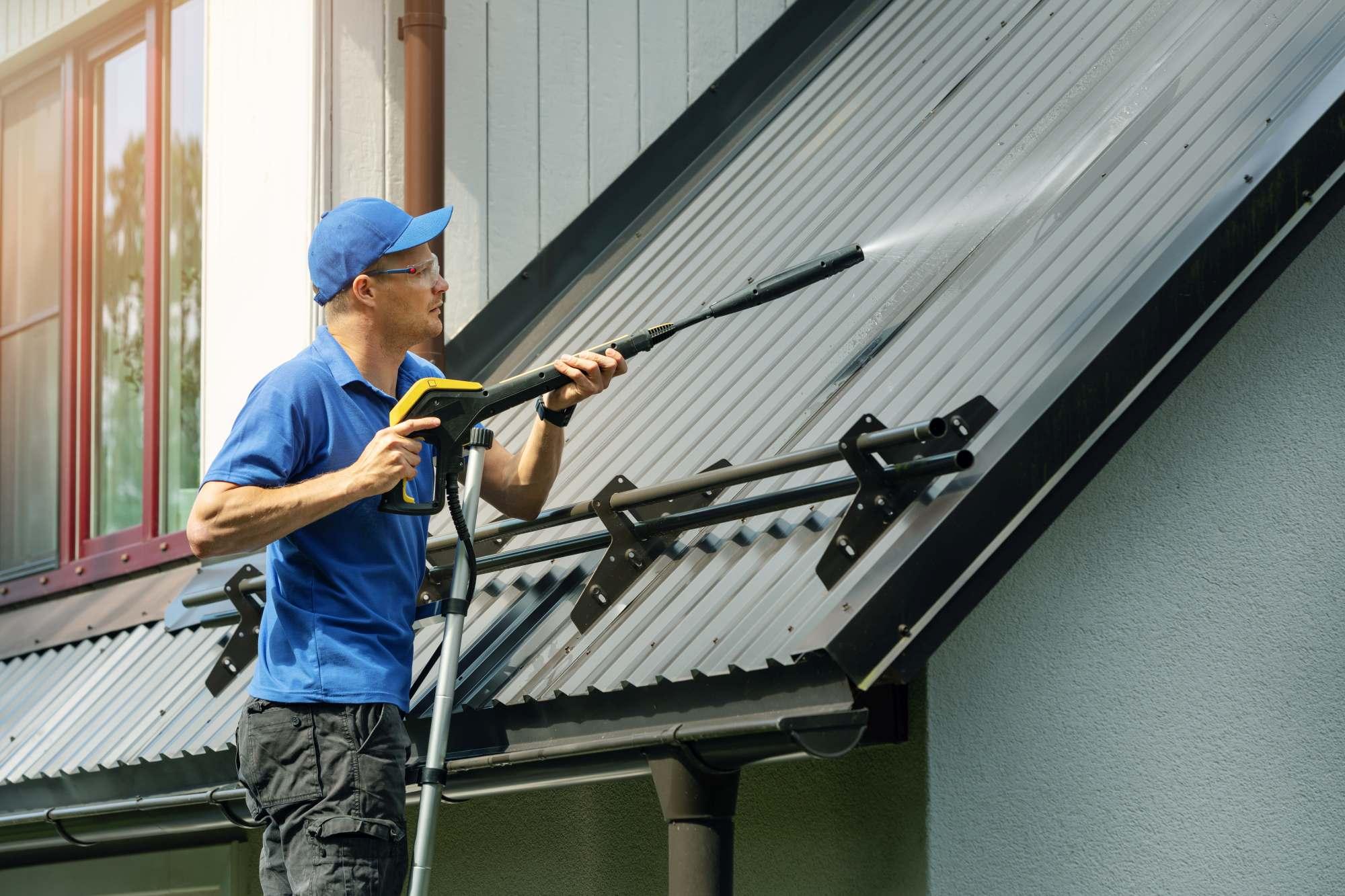 Man Spraying Roof
